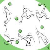 3 fotbollsymboler Arkivfoto