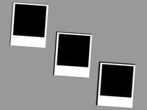 3 fotopolaroids royaltyfri illustrationer