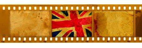 3 frame dos oldies 35mm com a bandeira BRITÂNICA velha Ilustração do Vetor