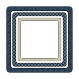 3 frames with different pattern. 3 blue and beige frames with different pattern Royalty Free Stock Images