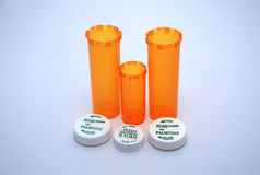 3 frascos manufaturados da medicina Foto de Stock Royalty Free