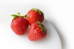 3 fresas Imagen de archivo libre de regalías