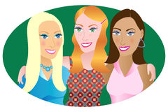 3 Friends royalty free illustration