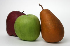 3 Fruits to keep doctor away. Fruit trio Royalty Free Stock Photo