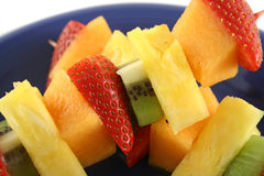 3 fruktkebabs Royaltyfri Bild