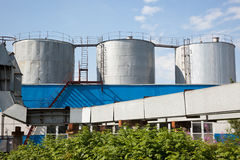 3 fuel tanks Royalty Free Stock Photo