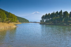3 Fuji góry odbicie Obraz Royalty Free