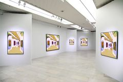3 galeria sztuki zdjęcie stock