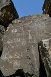 3 galisteo墨西哥新的刻在岩石上的文字 库存图片