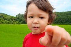 3 gammala år för förtjusande pojke royaltyfri foto