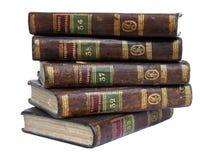 3 gammala böcker Arkivfoto