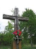 3 gammala trä för kors arkivbild