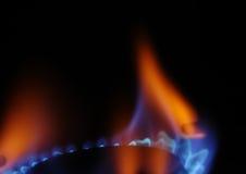 3 gaz płomieni Obrazy Royalty Free
