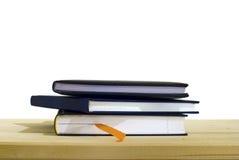 3 geïsoleerdem boeken Stock Afbeeldingen