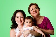 3 generaties van vrouwen Royalty-vrije Stock Afbeeldingen