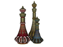 3 Genie Bottles Royalty Free Stock Images