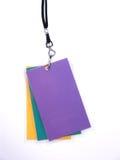 3 gestapelde CredentiePassen Stock Foto