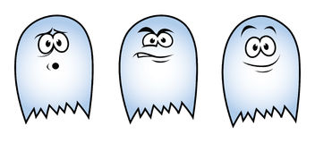 3 ghosts. Cartoon vector illustration of 3 ghosts Stock Image