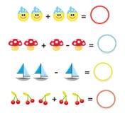 3 gier matematyki część Zdjęcia Stock