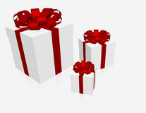 3 Gift Boxes on White. 3d Render of 3 Gift Boxes on White Royalty Free Stock Image