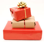 3 gifts Stock Photography