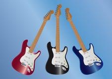 3 gitary Zdjęcie Stock