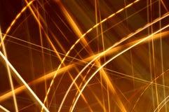 3 glödande linjer för abstrakt begrepp Royaltyfria Bilder