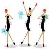 3 glamour woman Stock Photography
