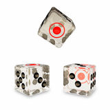 3 glass dice Royalty Free Stock Photo