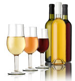 3 glass of wine Royalty Free Stock Photography