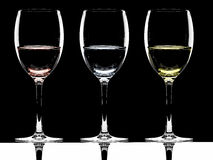 3 glasses Stock Photography