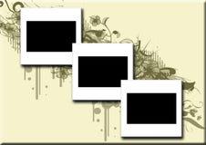 3 glissières sur le fond grunge Photographie stock libre de droits