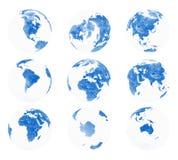 3 globe ziemski rzut Zdjęcia Stock