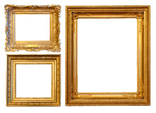 3 Gold Frames Royalty Free Stock Photos