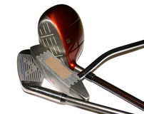 3 Golf Clubs Royalty Free Stock Photos