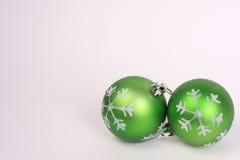 3 gröna prydnadar Fotografering för Bildbyråer