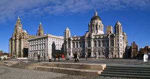 The 3 graces, liverpool water front. The 3 graces on the Liverpool water front Royalty Free Stock Image