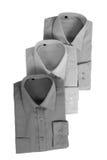 3 grijze overhemden Stock Foto