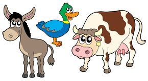3 gromadzenia zwierząt gospodarstwa Obrazy Royalty Free