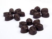 3 groupes trois de chocolats Photographie stock