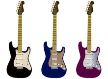 3 guitars Stock Images