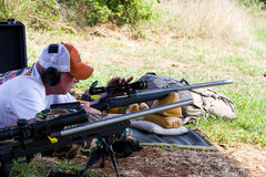 3-Gun Charity Competition. Three-gun charity competion, hosted by Steve Reuss and the Rapidan Rod and Gun Club in Orange, Virginia, near Culpeper, Virginia, USA Royalty Free Stock Images