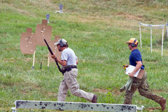 3-Gun Charity Competition. Three-gun charity competion, hosted by Steve Reuss and the Rapidan Rod and Gun Club in Orange, Virginia, near Culpeper, Virginia, USA Stock Photos