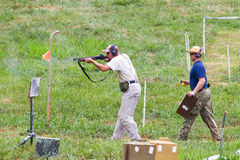 3-Gun Charity Competition. Three-gun charity competion, hosted by Steve Reuss and the Rapidan Rod and Gun Club in Orange, Virginia, near Culpeper, Virginia, USA Royalty Free Stock Photography
