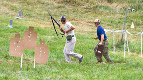 3-Gun Charity Competition. Three-gun charity competion, hosted by Steve Reuss and the Rapidan Rod and Gun Club in Orange, Virginia, near Culpeper, Virginia, USA Stock Photo