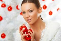 3 härliga jul Fotografering för Bildbyråer
