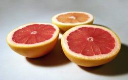 3 halfs грейпфрута Стоковое Фото