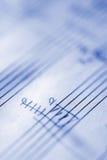 3 handskrivna musikaliska ställning Arkivbilder
