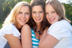 3 happy faces Royalty Free Stock Images