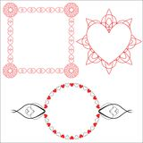 3 Heart Borders. 3 decorative borders featuring hearts Stock Image